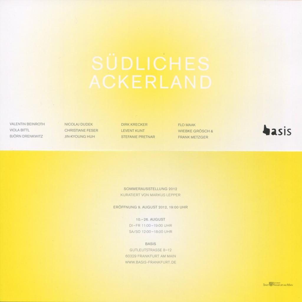 Invitation card Exhibition Southern Farmland 2012