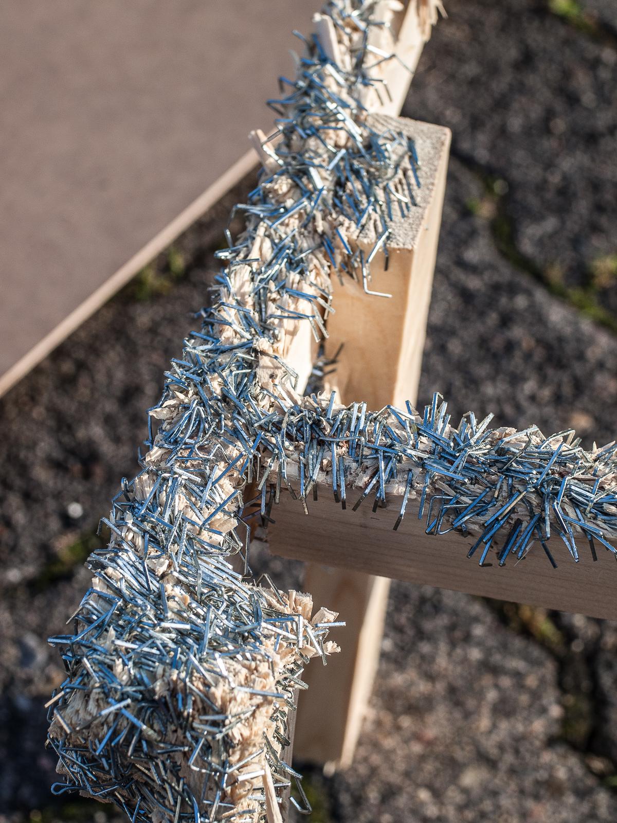 »Beachclub« detail view | staples, wood