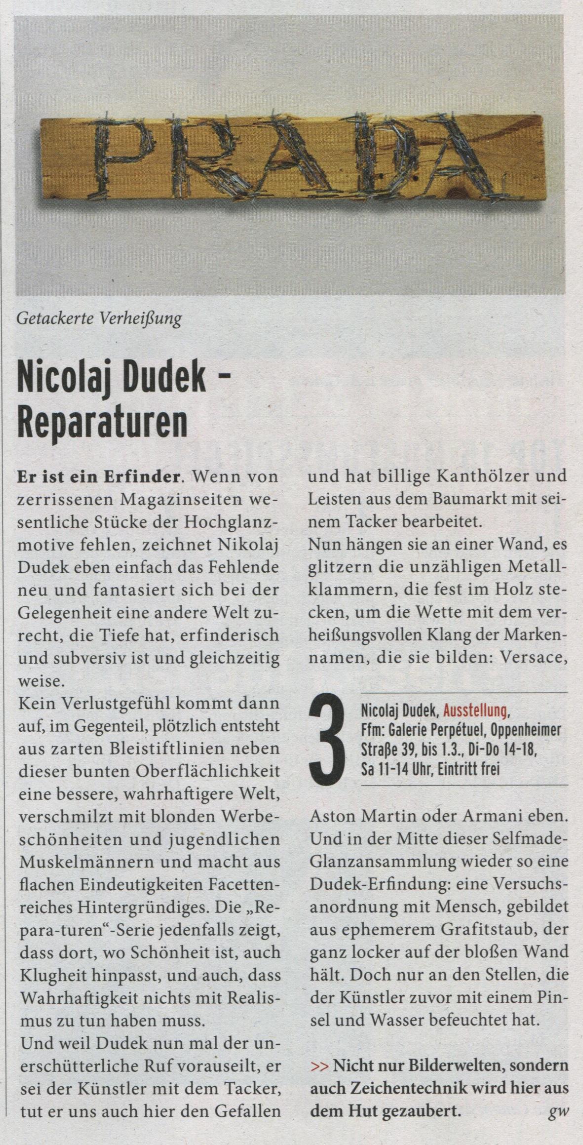 Press article Frankfurt Journal