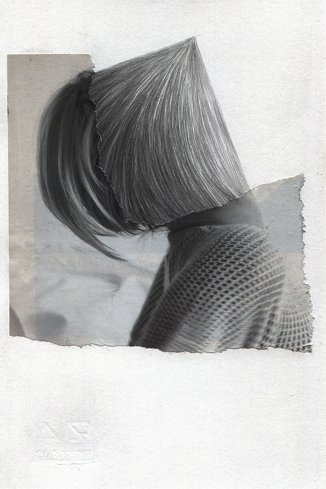 """""""Rectangular"""", 2013, pencil, collage, 16.5 x 24 cm"""