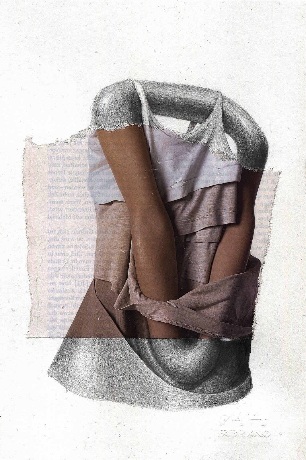 """Gestell"", 2013, pencil, collage, 16.5 x 24 cm"