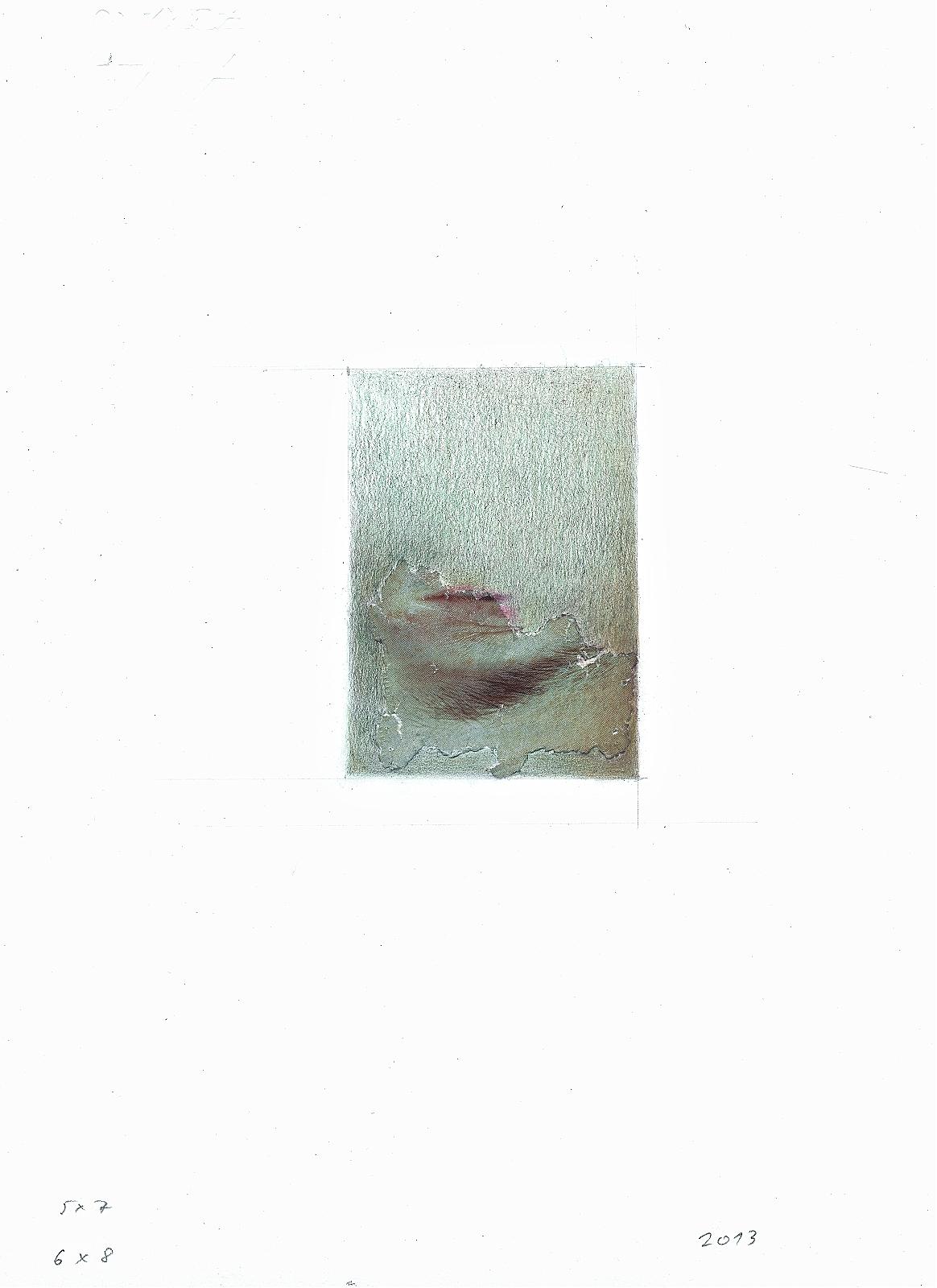 """Ancient II"", 2013, pencil, collage, 16.5 x 24 cm"