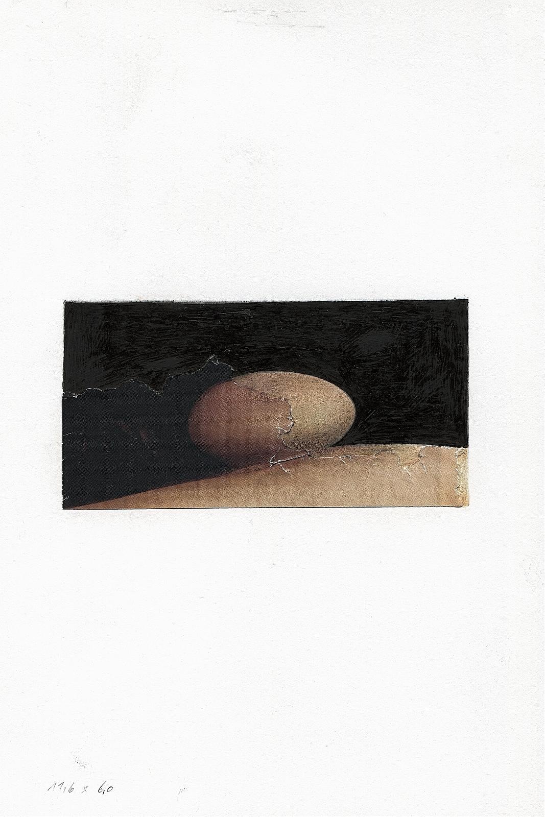 """""""Extension"""", 2013, pencil, collage, 16.5 x 24 cm"""