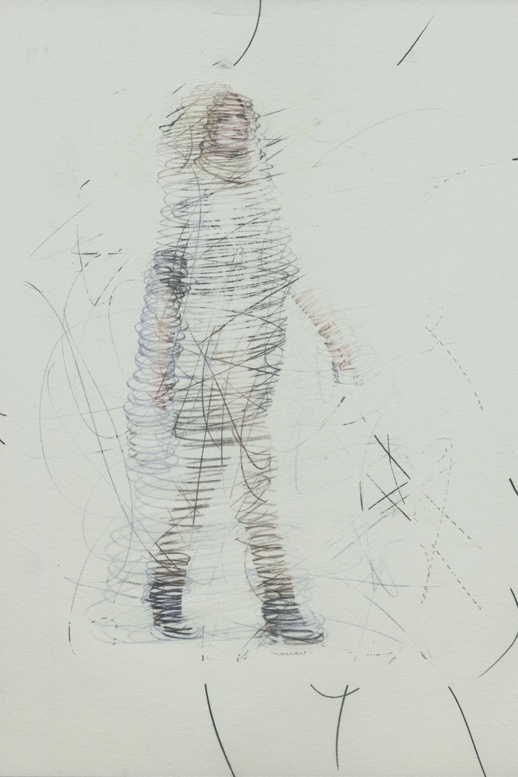 Spin #02, 2014, Lavender-Oil transferprint, pencil, 21 x 28 cm