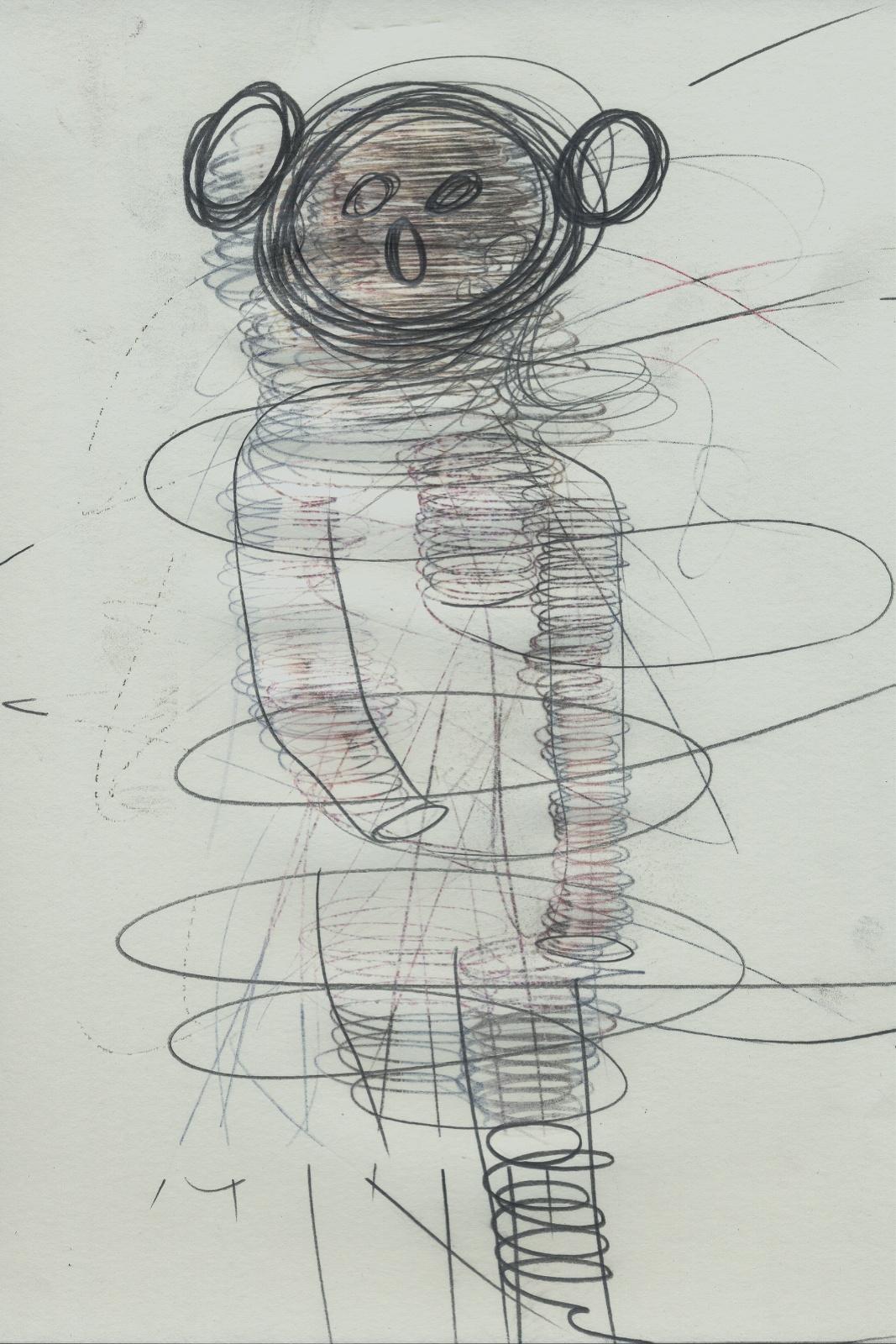 Spin #01, 2014, Lavender-Oil transferprint, pencil, 21 x 28 cm