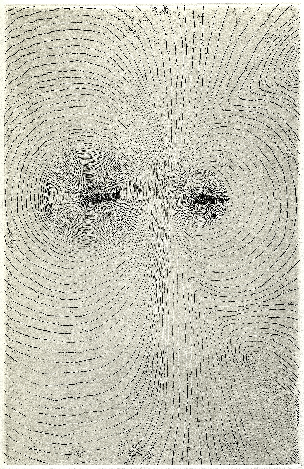 """""""Headscape"""", 2007, drypoint, etching, appr. 13 x 19 cm"""