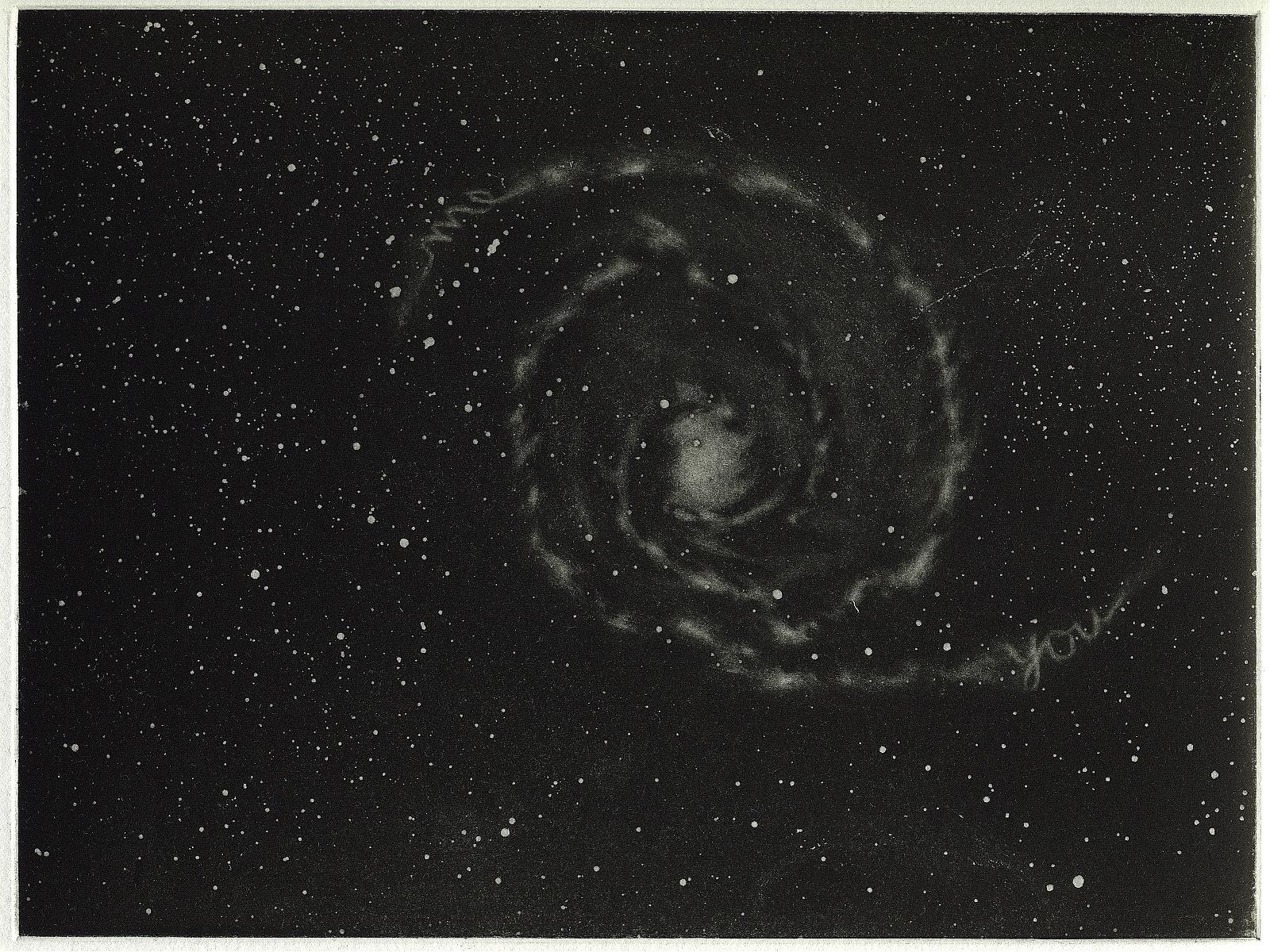 """""""U and Me"""", 2007, Aquatint, 22.4 x 16.8 cm"""