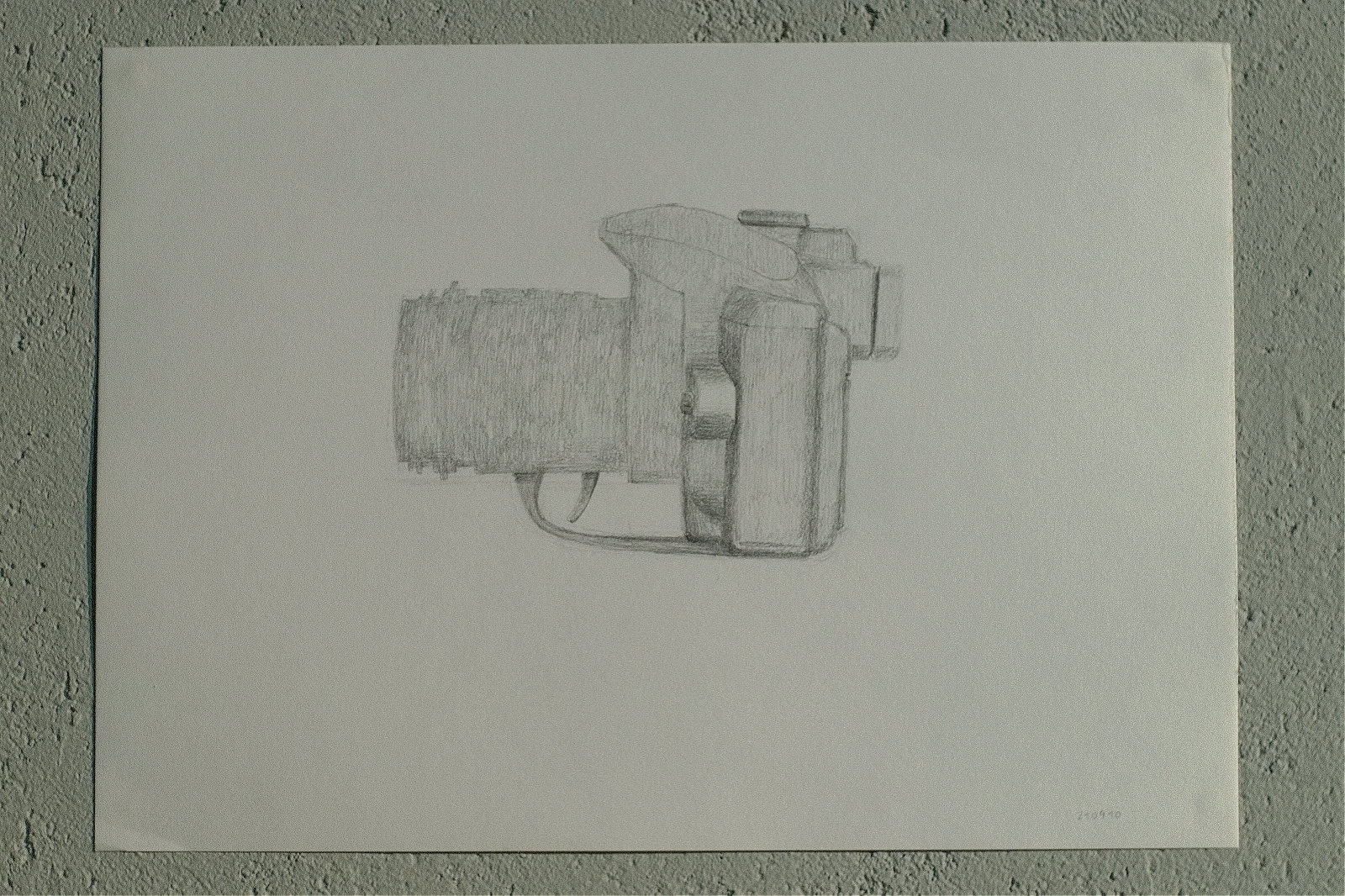 """""""Tourist´s weapon"""", 2010, charcoal on paper, 32 x 24 cm"""