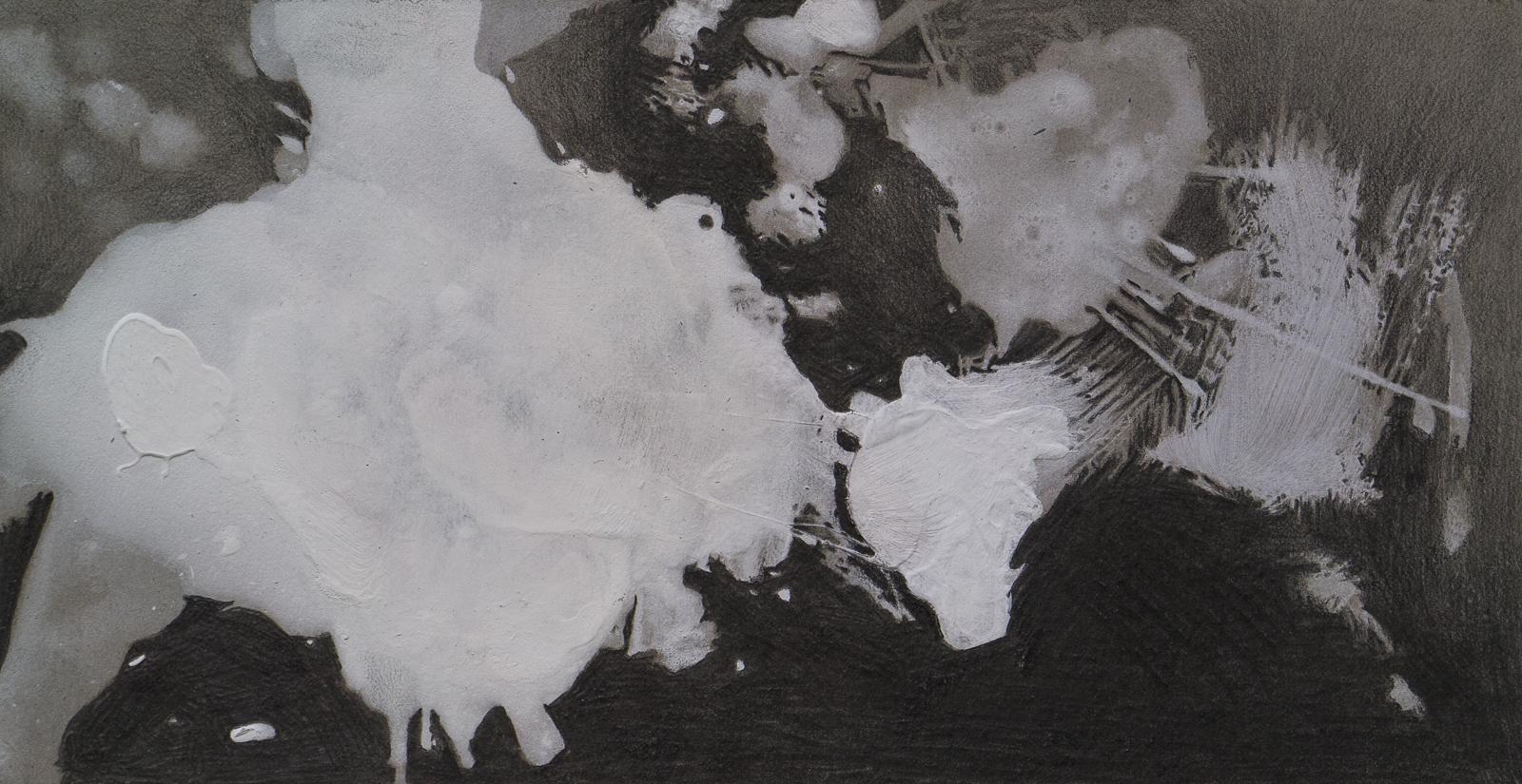 »By chance «, 2014, pencil, acrylic, cardboard, 40  x 21 cm